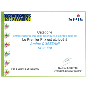 Concours innovation 2012
